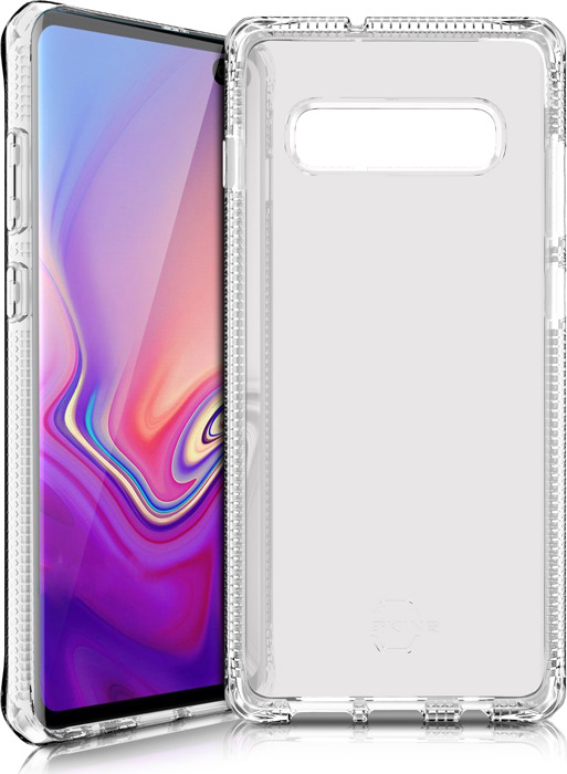 Чехол-накладка Itskins Spectrum Clear для Samsung Galaxy S10+, прозрачный