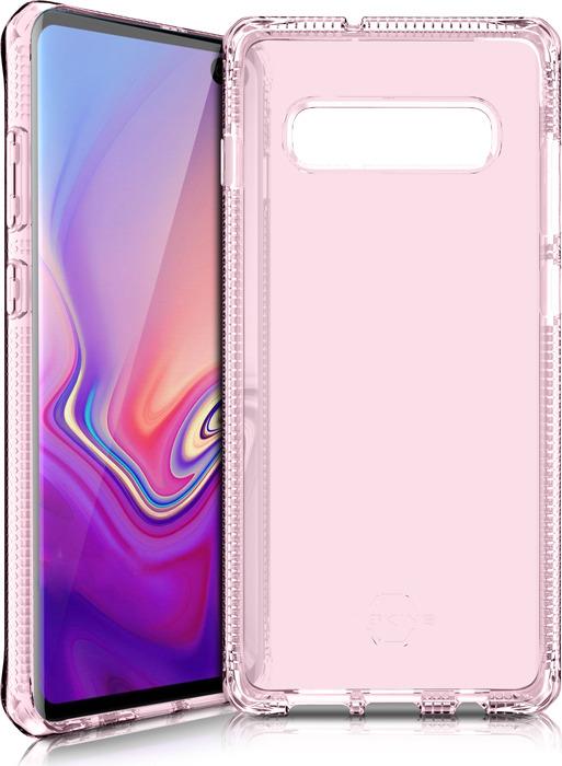 Чехол-накладка Itskins Spectrum Clear для Samsung Galaxy S10+, светло-розовый