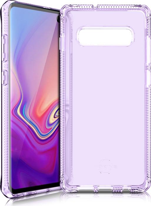 Чехол-накладка Itskins Spectrum Clear для Samsung Galaxy S10+, сиреневый