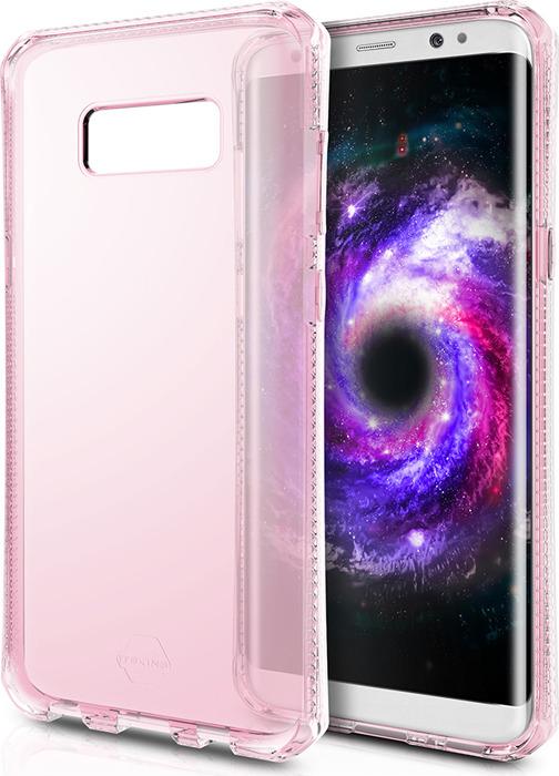 Чехол-накладка Itskins Spectrum Clear для Samsung Galaxy S8+, светло-розовый