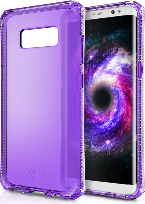 Чехол-накладка Itskins Spectrum Clear для Samsung Galaxy S8+, фиолетовый
