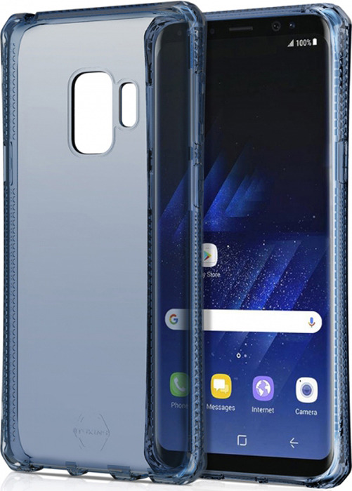 Чехол-накладка Itskins Spectrum Clear для Samsung Galaxy S9, синий