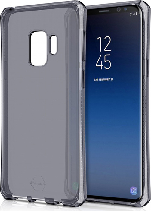 Чехол-накладка Itskins Spectrum Clear для Samsung Galaxy S9, черный