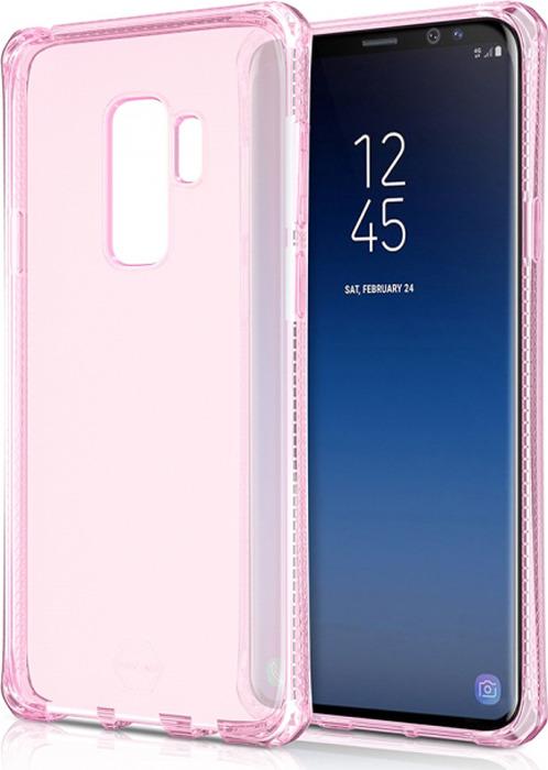 Чехол-накладка Itskins Spectrum Clear для Samsung Galaxy S9+, светло-розовый