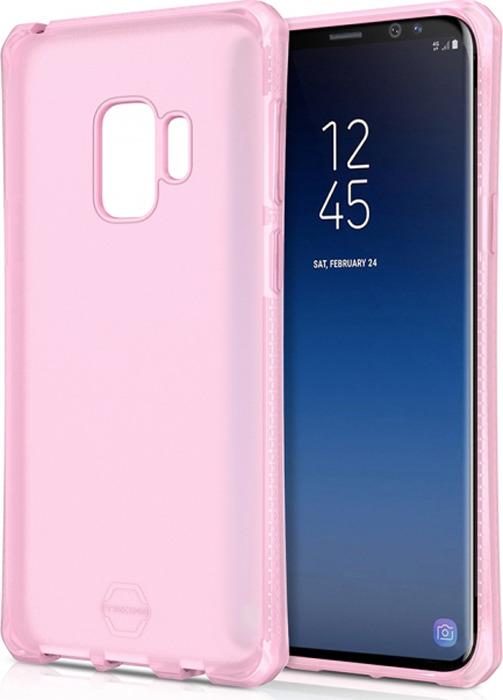 Чехол-накладка Itskins Spectrum Frost для Samsung Galaxy S9, светло-розовый
