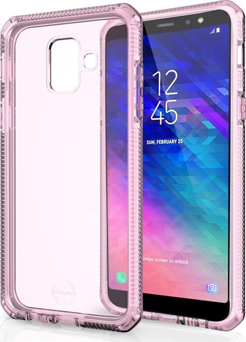 Чехол-накладка Itskins Supreme Clear для Samsung Galaxy A6 (2018), белый, светло-розовый
