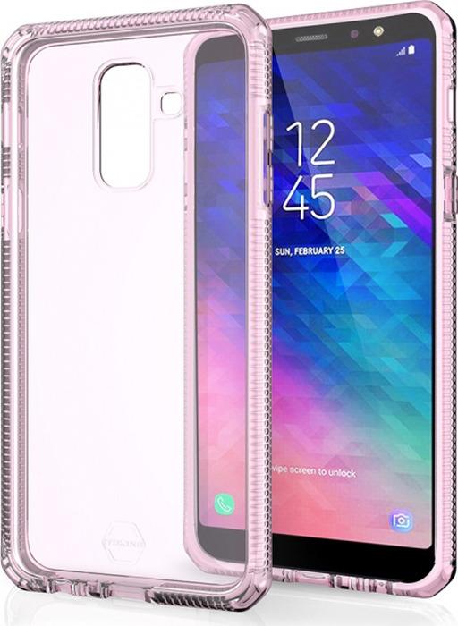 Чехол-накладка Itskins Supreme Clear для Samsung Galaxy A6+ (2018), белый, светло-розовый
