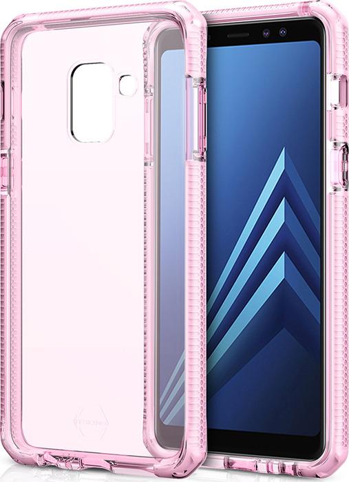 Чехол-накладка Itskins Supreme Clear для Samsung Galaxy A8 (2018), белый, светло-розовый