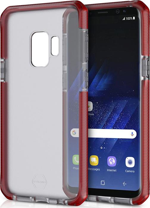 Чехол-накладка Itskins Supreme Frost для Samsung Galaxy S9, красный, черный