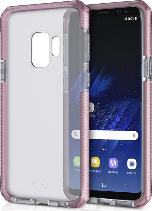 Чехол-накладка Itskins Supreme Frost для Samsung Galaxy S9, светло-розовый, черный