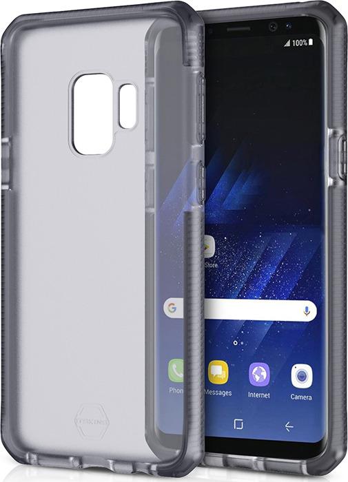 Чехол-накладка Itskins Supreme Frost для Samsung Galaxy S9, серый, черный цена и фото