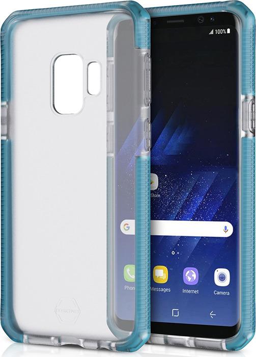 Чехол-накладка Itskins Supreme Frost для Samsung Galaxy S9, синий, черный