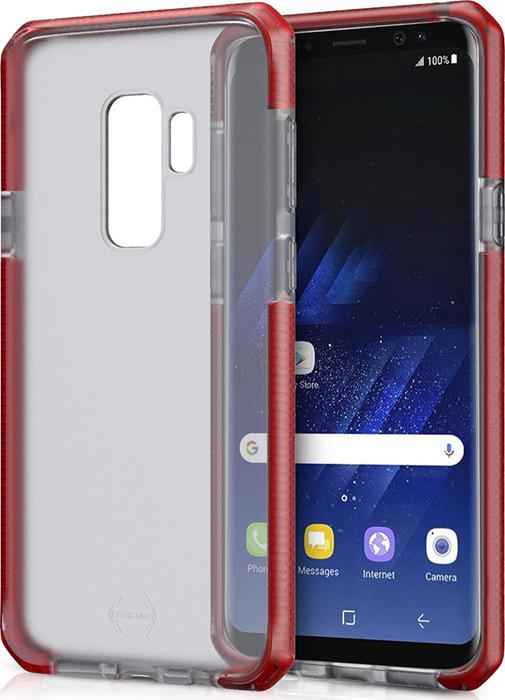 Чехол-накладка Itskins Supreme Frost для Samsung Galaxy S9+, красный, черный