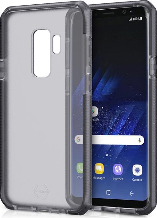 Чехол-накладка Itskins Supreme Frost для Samsung Galaxy S9+, серый, черный цена и фото