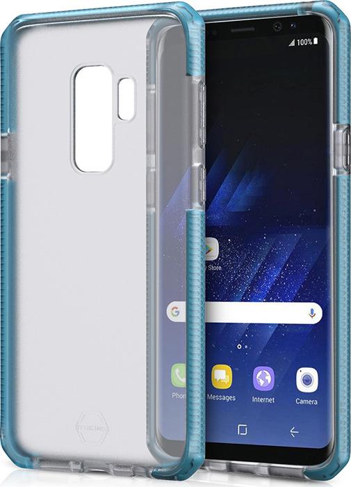 Чехол-накладка Itskins Supreme Frost для Samsung Galaxy S9+, синий, черный