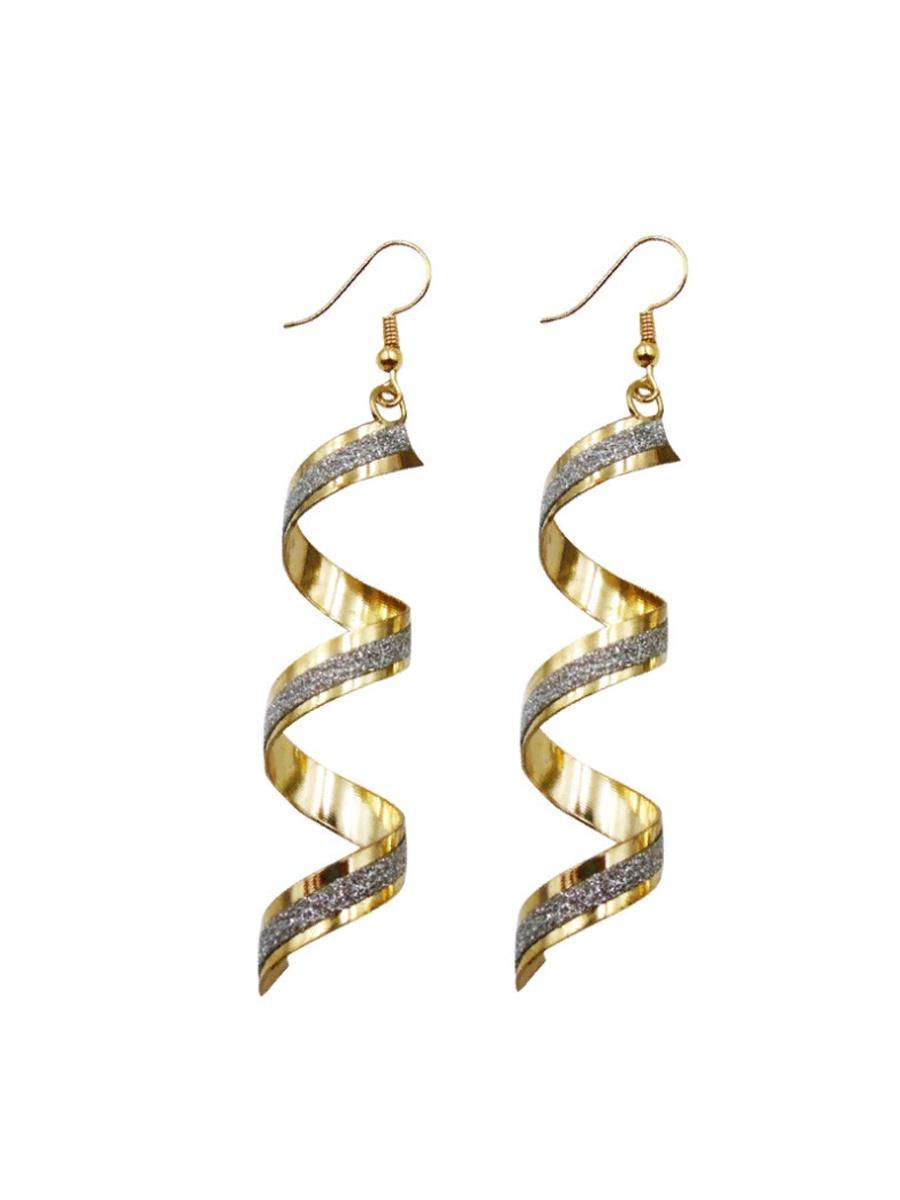Серьги бижутерные Панд Бижу Серьги Spiral, Бижутерный сплав, золотой серьги art silver цвет золотой м5078 405