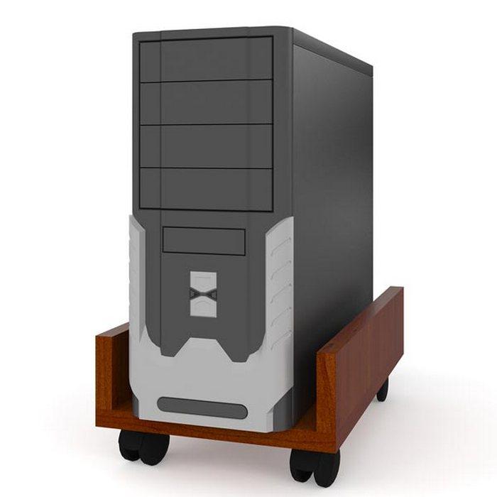 Полка Мебельный Двор под системный блок С-МД-4-02, цвет яблоня подставка под системный блок profioffice цвет светло серый