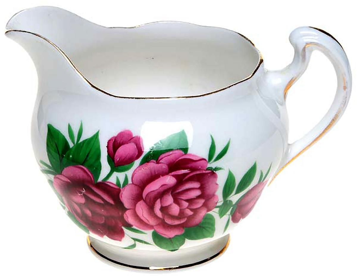 Сливочник Royal Vale Пионы. Английский фарфор, деколь, золочение, вторая половина ХХ века чайный сервиз сорренто на 3 персоны 12 предметов фарфор деколь золочение royal albert великобритания вторая половина хх века
