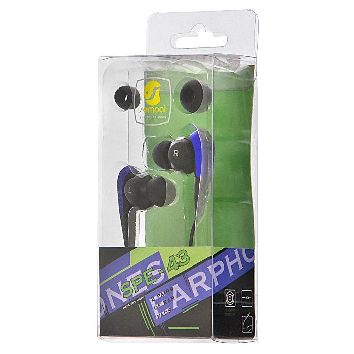 Наушники Fischer Audio SPE-43, синий, черный, темно-синий удлинитель для наушников olto ac 200 black 3 5 mm stereo audio 3 5 mm stereo audio длина 2м