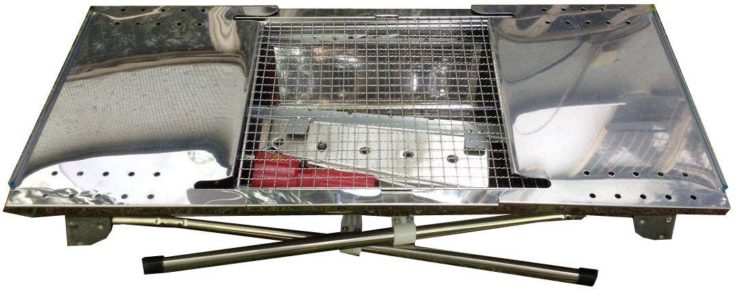 Барбекю-гриль Megagrill UBRS005, Нержавеющая сталь с покрытием