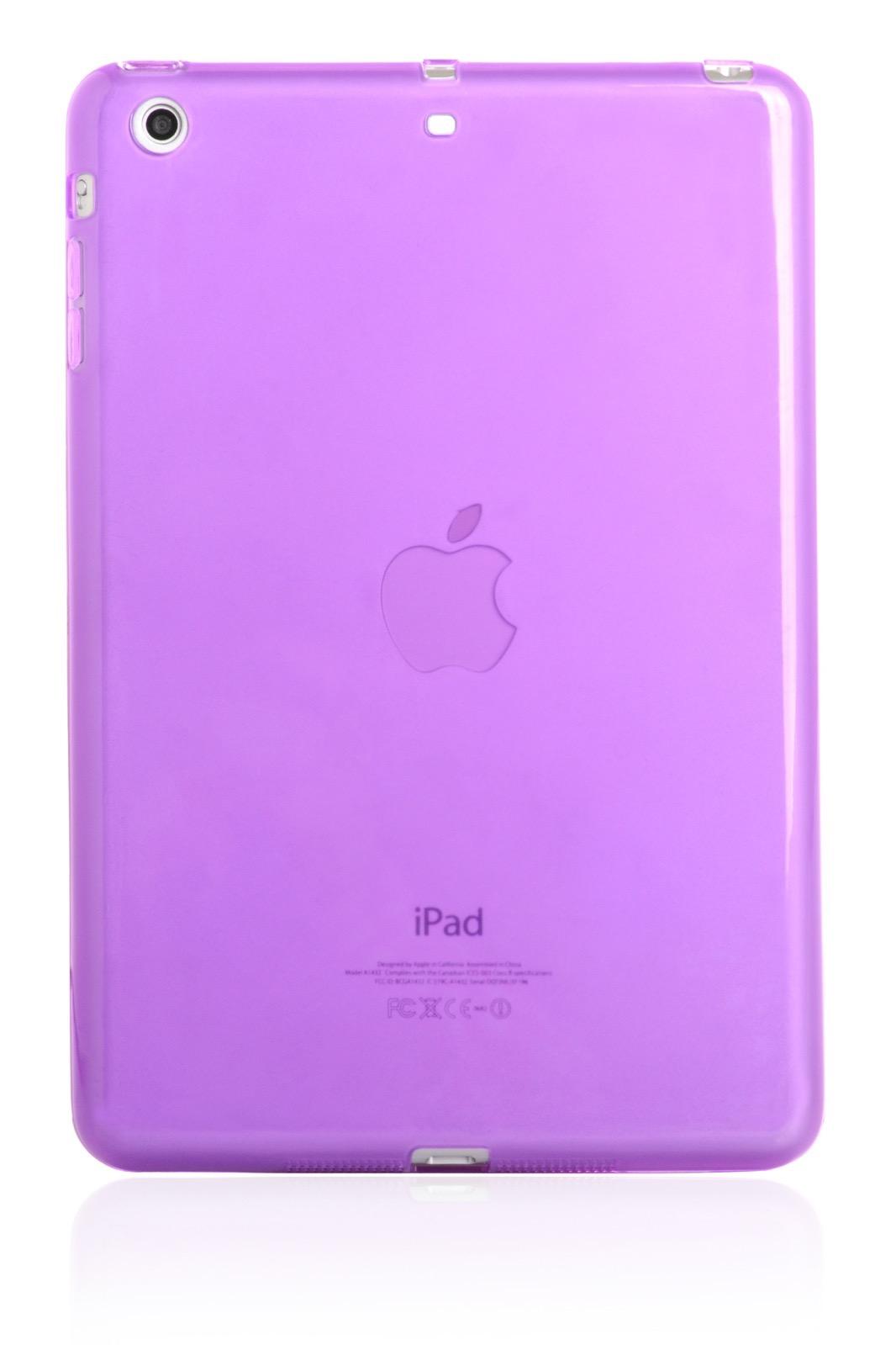 "Чехол для планшета iNeez накладка силикон глянцевый 410225 для Apple iPad mini 7.9"", сиреневый"