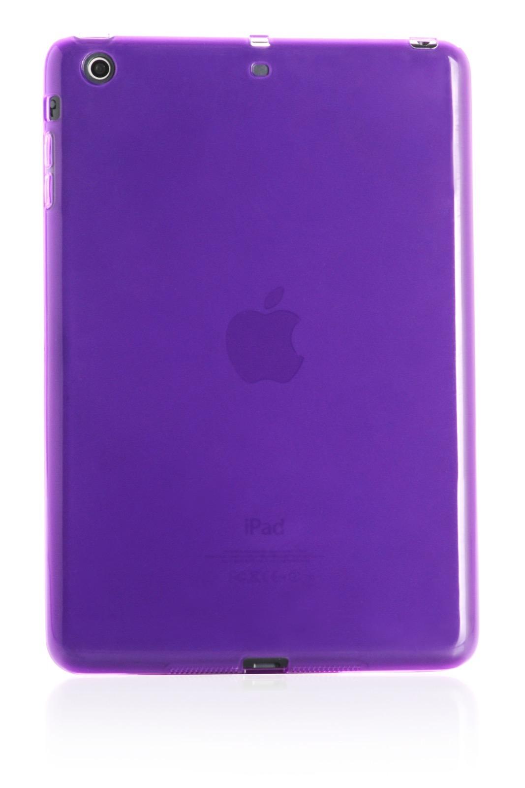 "Чехол для планшета iNeez накладка силикон глянцевый 410232 для Apple iPad mini 7.9"", фиолетовый"