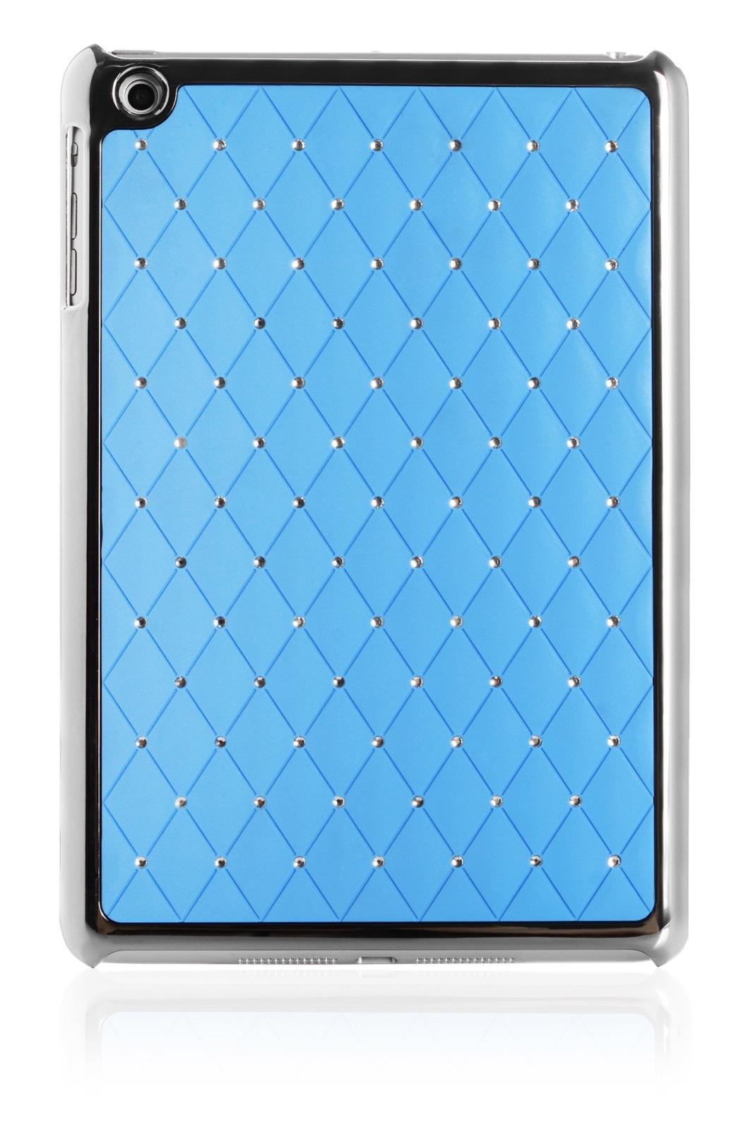 Чехол для планшета iNeez накладка стежка с кристаллами 410147 Apple iPad mini 7.9, голубой