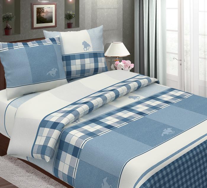 Комплект постельного белья ТК Традиция Традиция, для сна и отдыха, синий