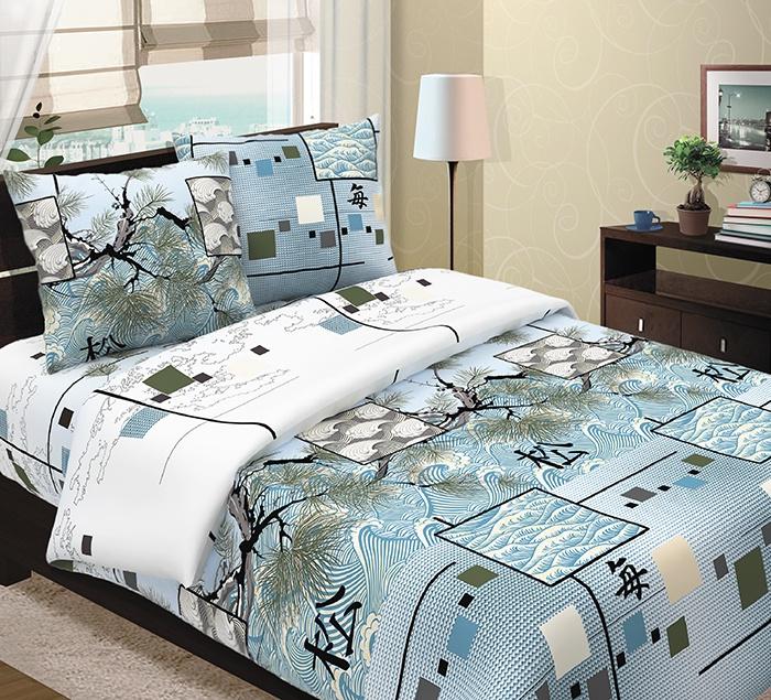 Комплект постельного белья ТК Традиция Традиция, для сна и отдыха, голубой, белый