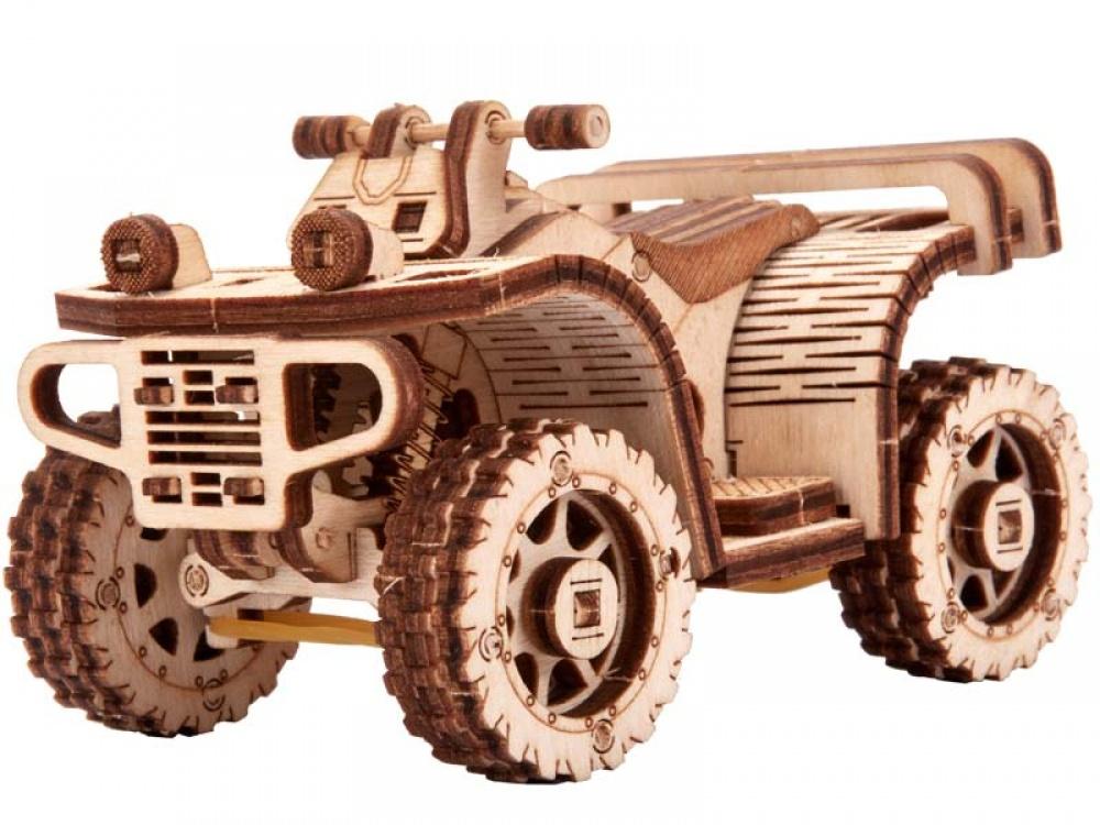 Механический конструктор из дерева Wood Trick Квадроцикл ATV