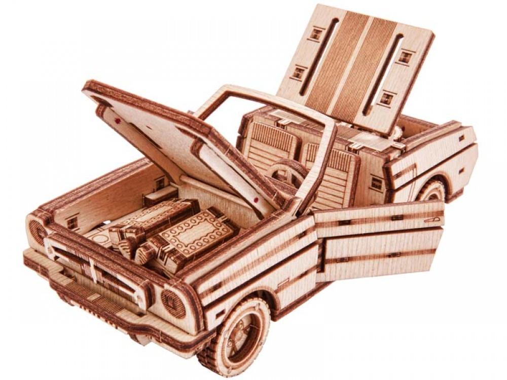 Механический конструктор из дерева Wood Trick Кабриолет