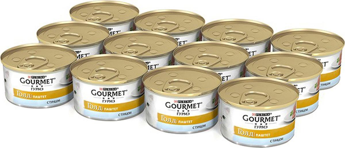 Консервы Gourmet Gold для кошек, паштет с тунцом, 12 х 85 г суточная норма йода для человека