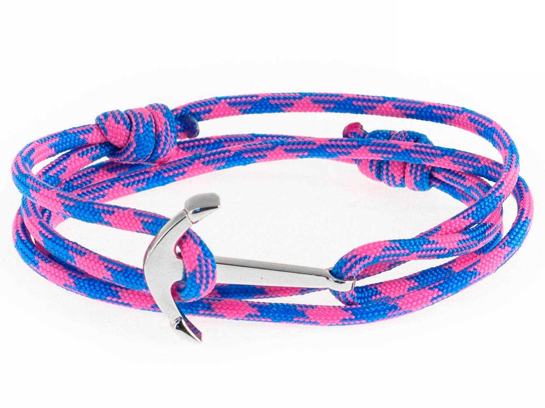 Набор для создания браслета из паракорда АНДАНТЕ ЯКОРЬ (розово-голубой)