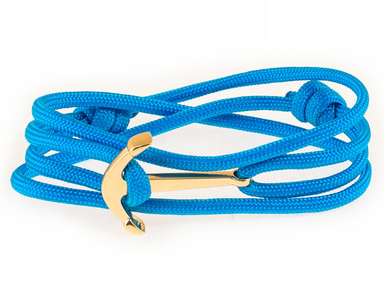 Набор для создания браслета из паракорда АНДАНТЕ ЯКОРЬ (голубой)