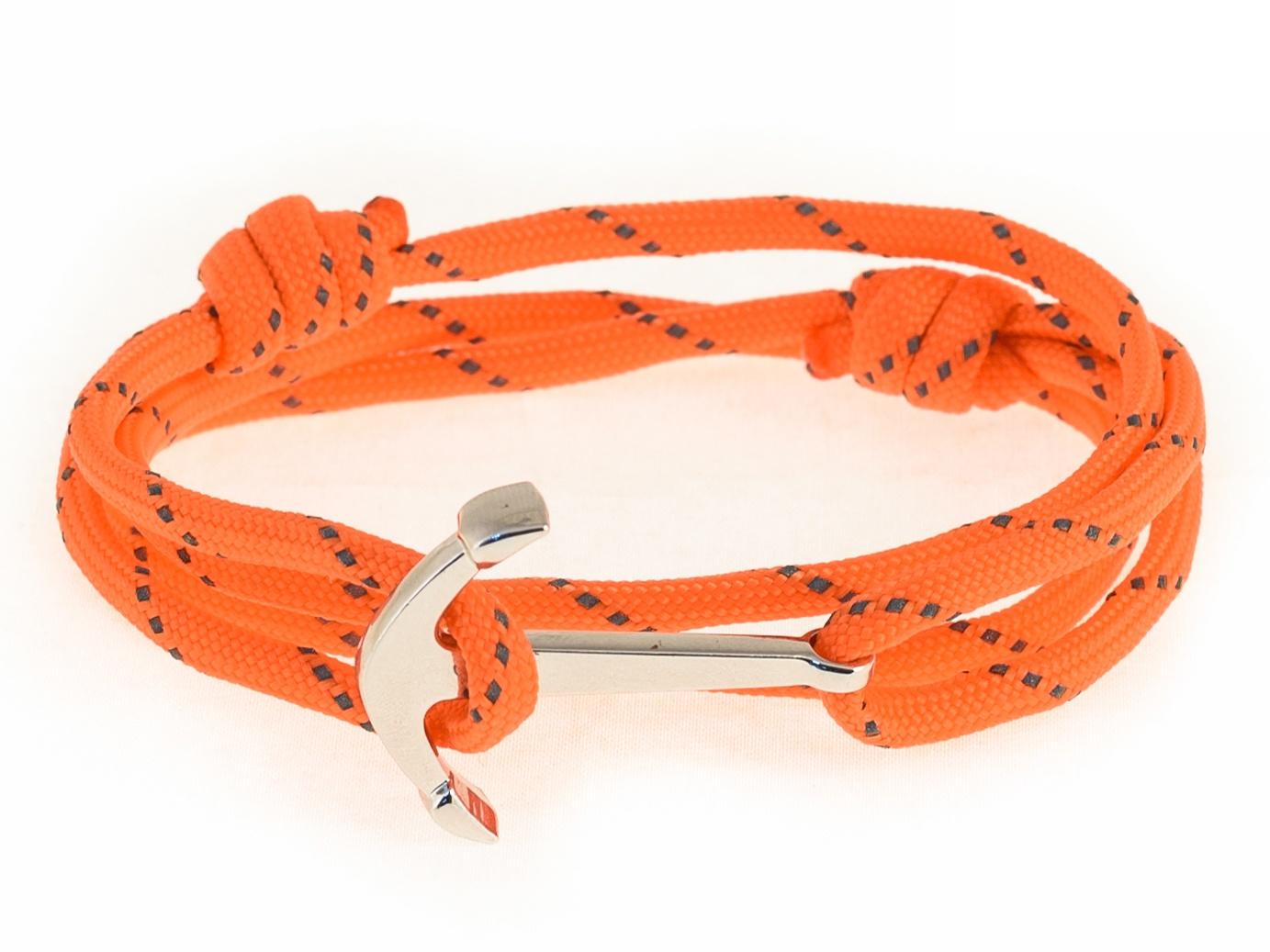 Набор для создания браслета из паракорда АНДАНТЕ ЯКОРЬ (оранжевый со светоотражающими элементами)