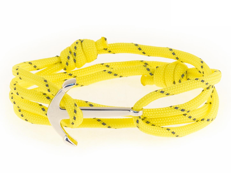 Набор для создания браслета из паракорда АНДАНТЕ ЯКОРЬ (желтый со светоотражающими элементами)
