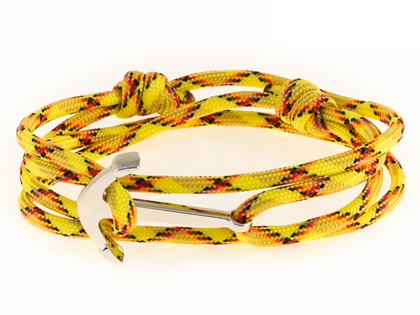 Набор для создания браслета из паракорда ЯКОРЬ (камуфляж - желтый)