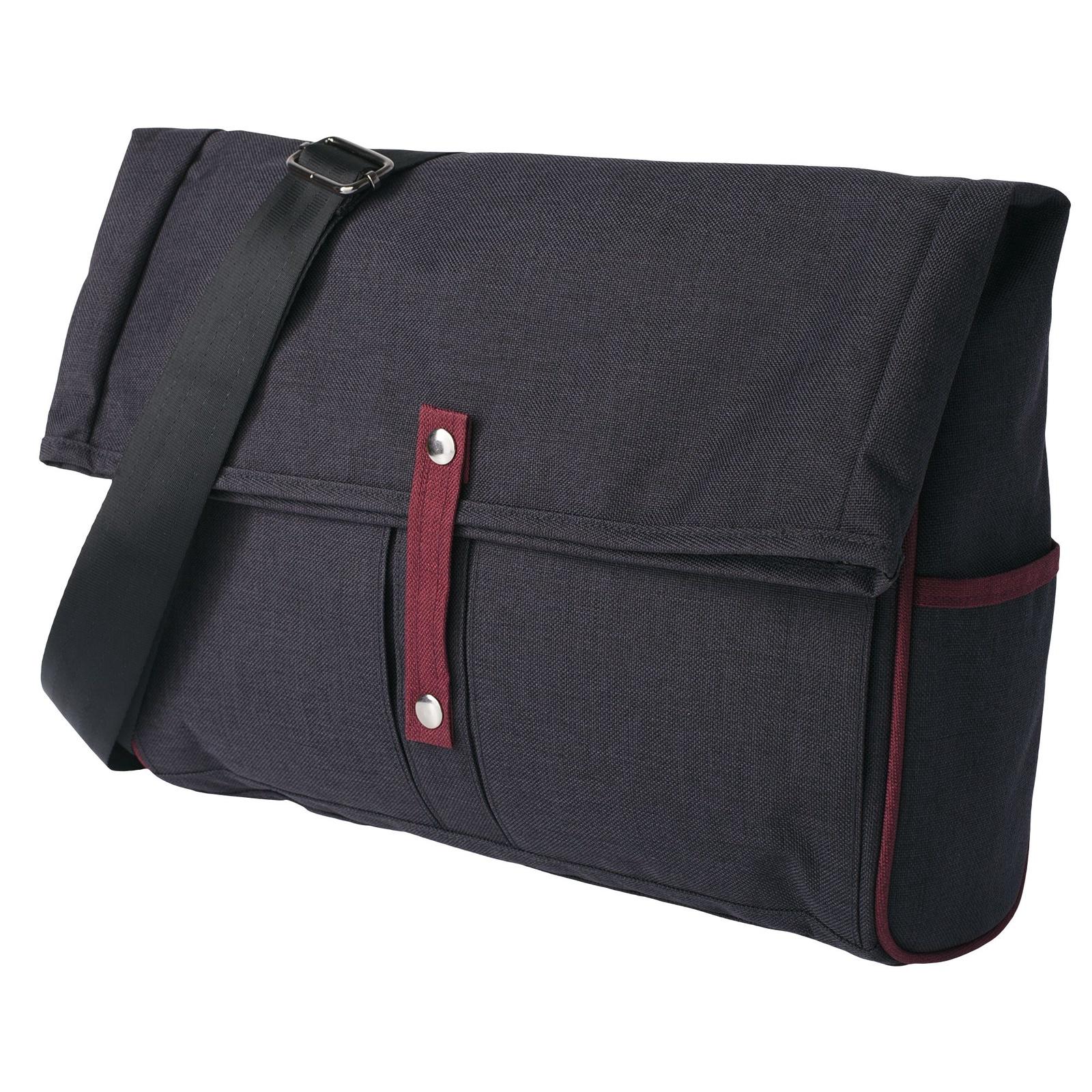 Сумка для ноутбука Indivo twoFold, серый, бордовый