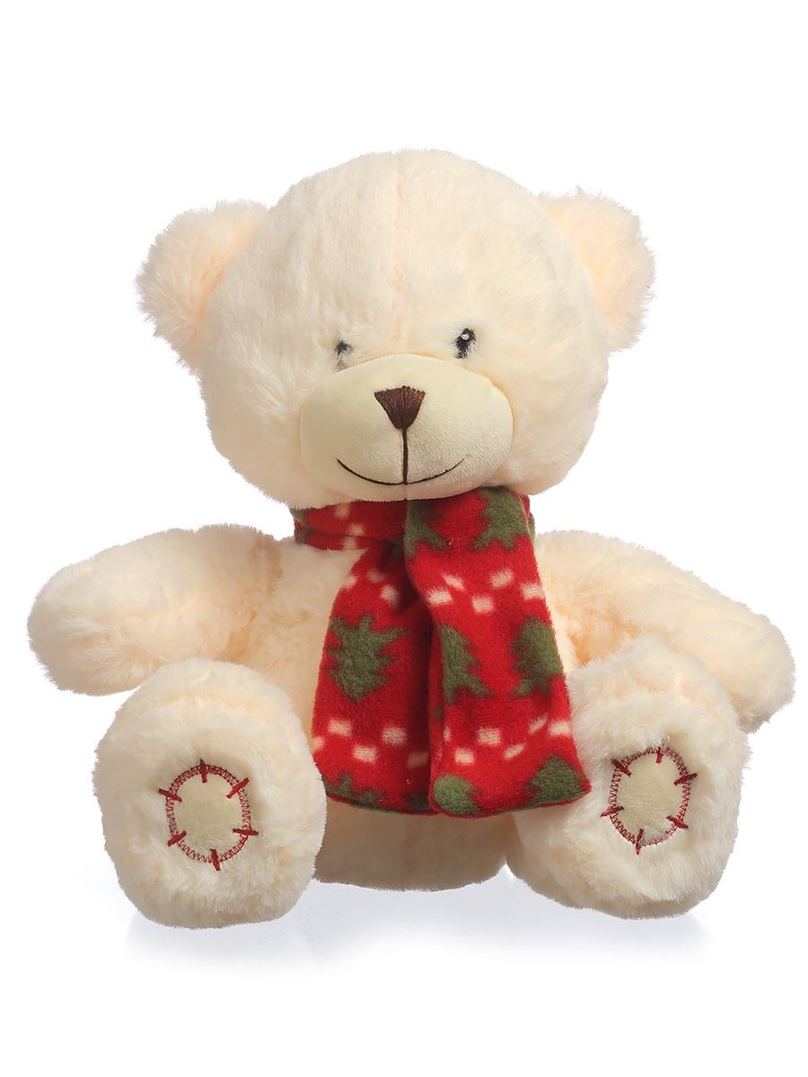 Мягкая игрушка TOY and JOY Медведь в шарфе 1-3901-25 joy toy машина автотехника самосвал 9463c