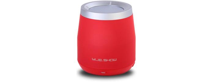 Беспроводная колонка Musicoo F-100, красный любовь урок aker ak58 lcd цифровой микрофон fm выбор радио портативный динамик талии висел небольшой пчелы аудио красный