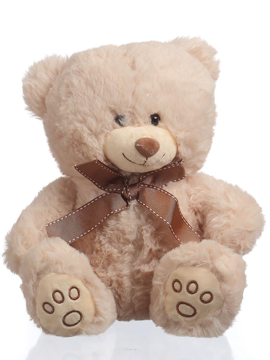 Мягкая игрушка TOY and JOY Медведь с бантом 6-0059-25 игрушка joy toy снайпер 7149