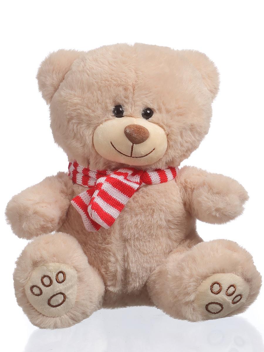 Мягкая игрушка TOY and JOY Медведь в шарфе 6-0063-23 цена