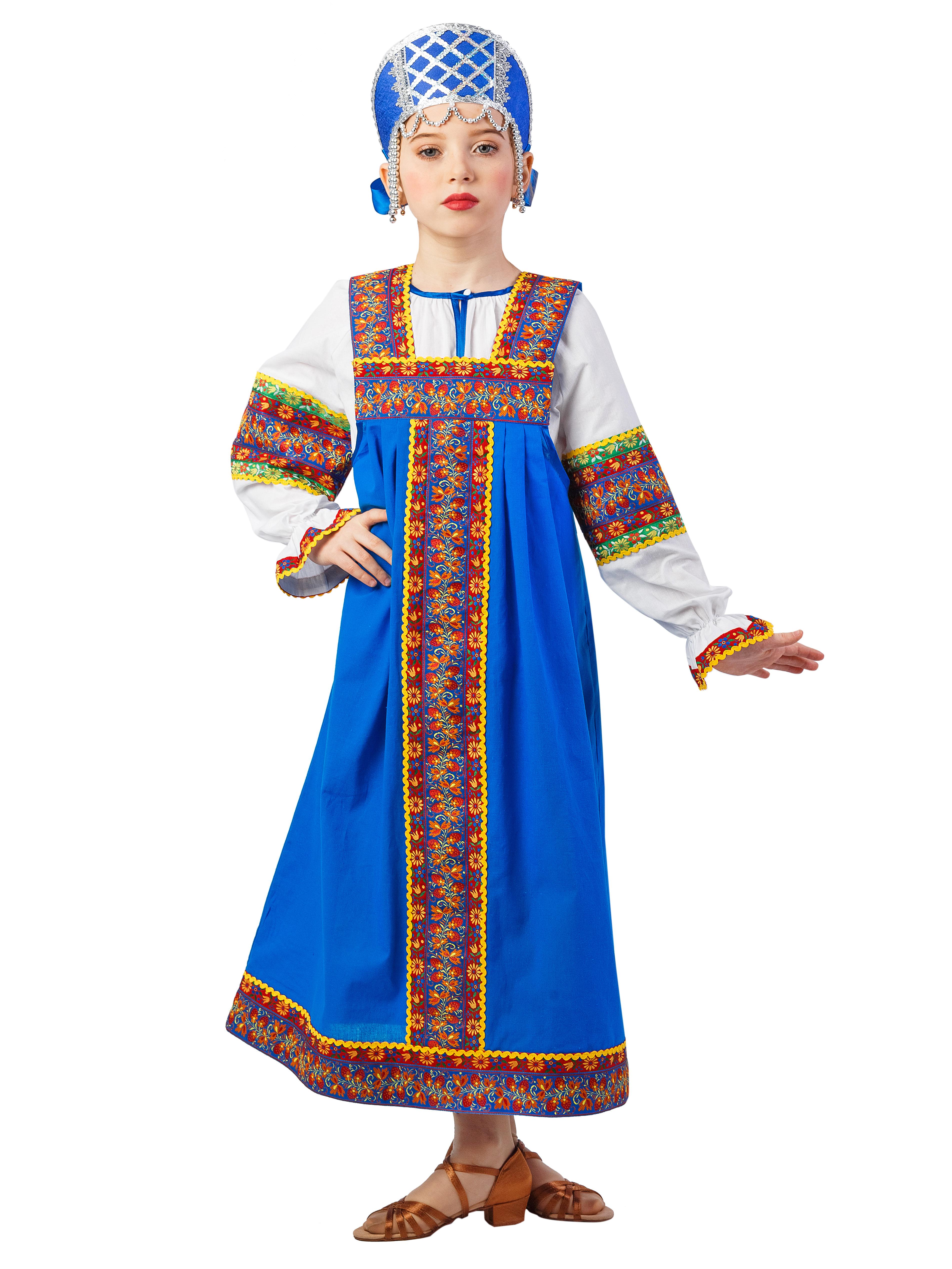 Карнавальный костюм Gala-Вальс Русский народный костюм Машенька, синий н и решетников русский народный календарь