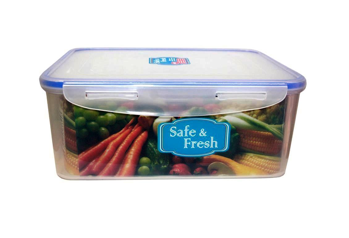 Контейнер пищевой прямоугольный с фиксаторами, герметичный, объем 2,3 литра. 10,8х15,1х11,7 см. подходит для СВЧ Ар. SF5-1 авент стерилизатор для свч печи арт 82765 scf281 02