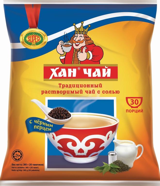 Растворимый чай ХАН с солью и перцем, 30 шт. по 12 г искусственные растения valiant муляж лук с перцем в связке желтый 60см шт