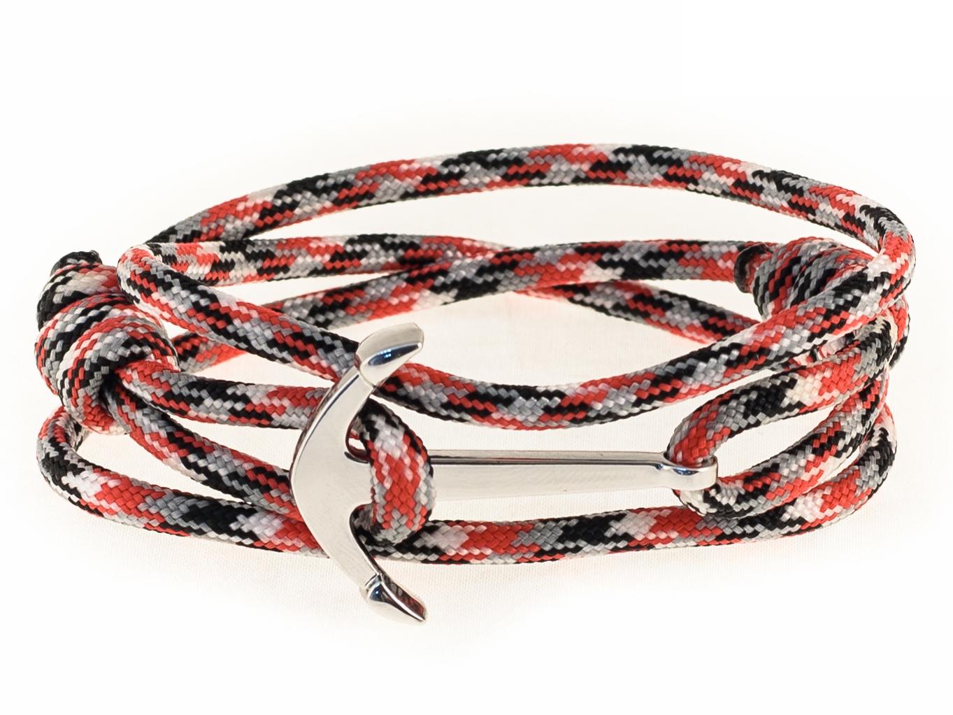 Набор для создания браслета из паракорда АНДАНТЕ ЯКОРЬ (черный,белый, красный)