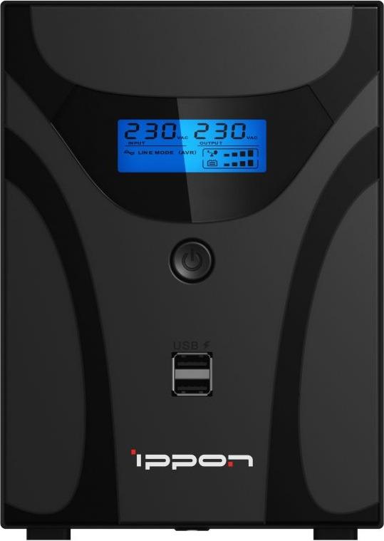 Источник бесперебойного питания Ippon Smart Power Pro II Euro 2200 1200Вт 2200ВА, черный цена и фото