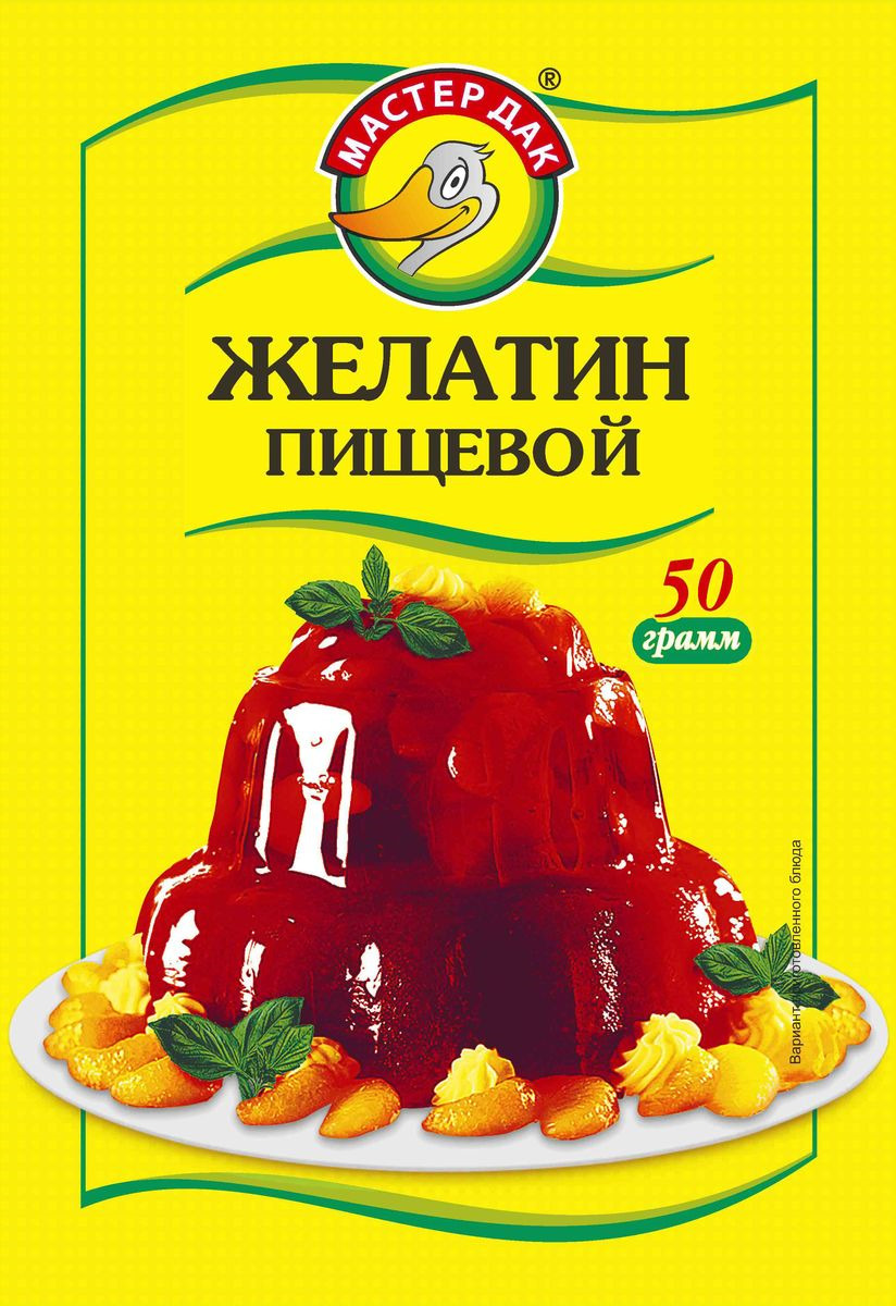 Желатин Мастер Дак, 50 г для волос яйцо и желатин
