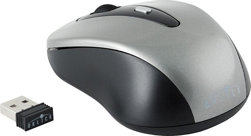 Мышь беспроводная Oklick 435MW, оптическая, серый, черный