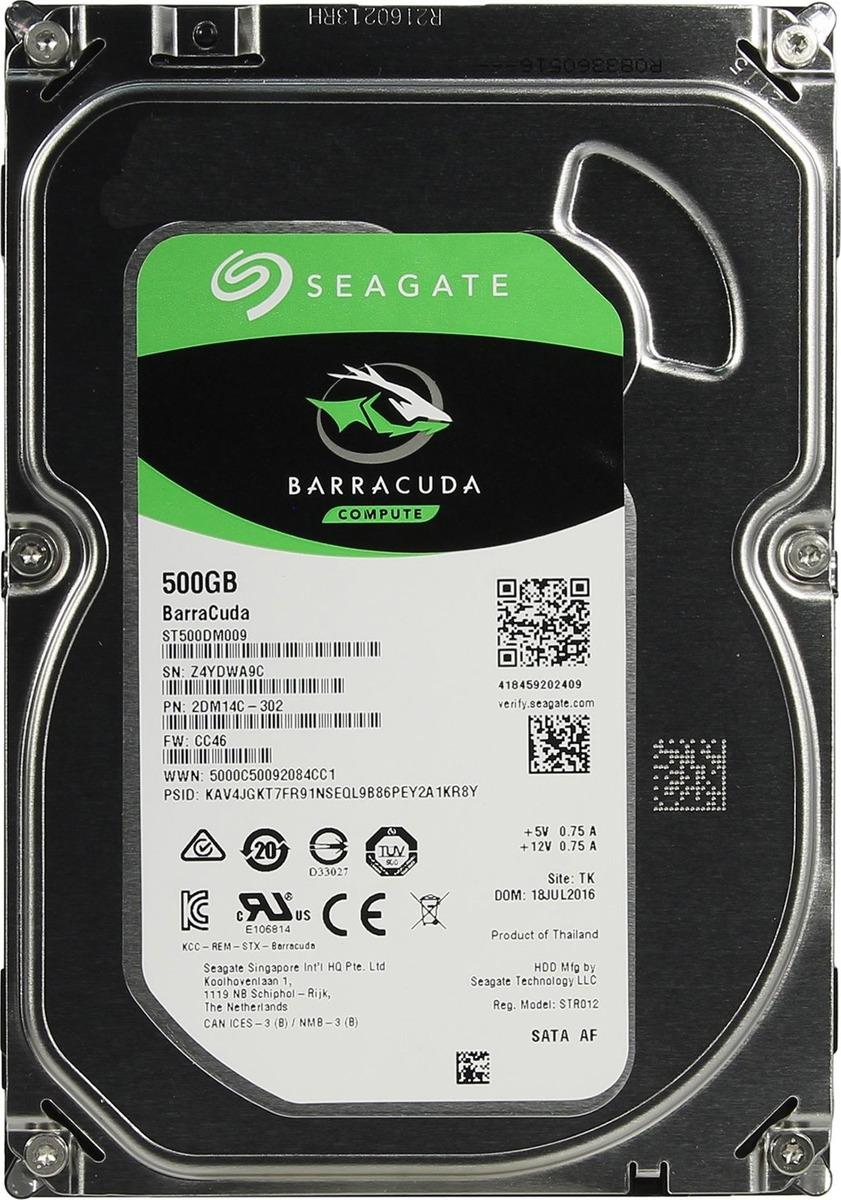 Внутренний жесткий диск Seagate BarraCuda, 500 ГБ жесткий диск hdd 500гб seagate barracuda st500dm009